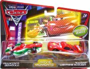Машинки 'Francesco Bernoulli и Lighting McQueen Ki-Ciao', из серии 'Тачки-2', Mattel [W6779]