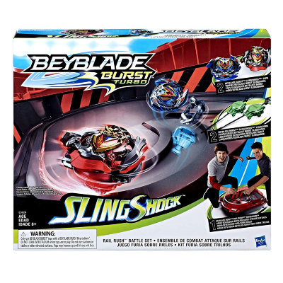Игровой набор с ареной и волчками Rail Rush Battle Set, SlingShock, BeyBlade Burst Turbo, Hasbro [E3629] Игровой набор с ареной и волчками Rail Rush Battle Set, SlingShock, BeyBlade Burst Turbo, Hasbro [E3629]