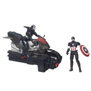 Игровой набор Captain America and Marvel's War Machine Figures with Blast Cycle, 10 см, Avengers. Age of Ultron, Hasbro [B1499]