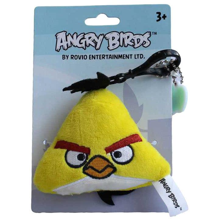 мягкая игрушка брелок желтая злая птичка чак Angry Birds Yellow Bird 7 см Plush Apple Gt6367 Y