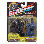 Набор фигурок 'Черный Snake Eyes vs Cobra Commander', 10см, G.I.Joe, Hasbro [53228-2]