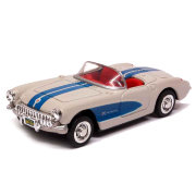 Модель автомобиля Chevrolet Corvette 1957, белая, 1:43, серия City Cruiser Collection, New-Ray [48017-04]