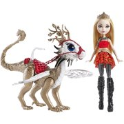 Кукла 'Эппл Вайт и Дракон Брэберн' (Apple White and Braebyrn Dragon), из серии 'Игры Драконов', Ever After High (Школа 'Долго и Счастливо'), Mattel [DKM76]