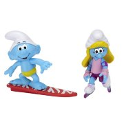 Фигурки 'Смурфик-сёрфер и Смурфетта-роллер' (Surfer Smurf and Smurfette Rollerblader), 6 см, Jakks Pacific [15044-1/15048]