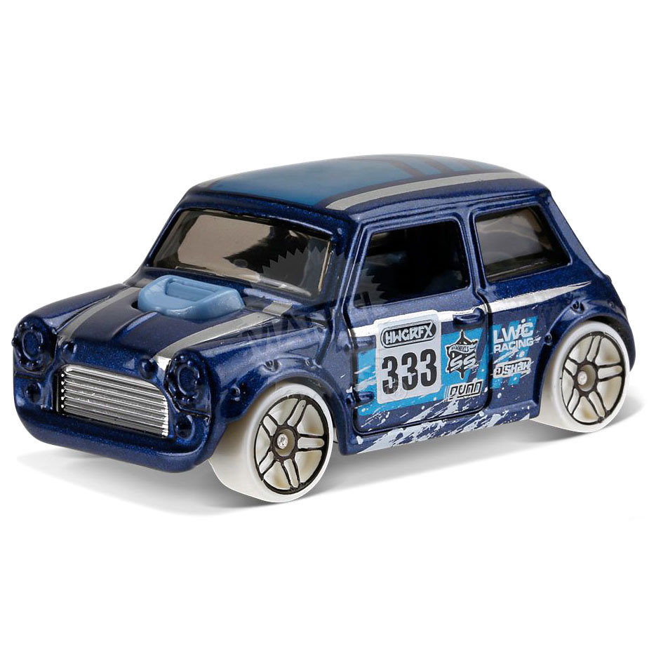 модель автомобиля Morris Mini синяя Hw Snow Stormers Hot Wheels