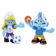Фигурки 'Смурфик-американофутболист и Смурфетта-футболист' (Football Smurf and Smurfette Soccer), 6 см, Jakks Pacific [15044-3/15046]