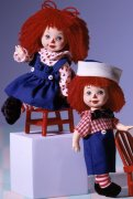 Куклы Келли и Томми 'Истории Рэггеди Энн' (Kelly & Tommy As Raggedy Ann & Andy), коллекционные, Mattel [24639]