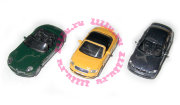 Набор из 3 автомобилей - BMW Z8 Cabriolet, Audi TT Soft Top, BMW 3 Series SW 1:72, Cararama [173-1]