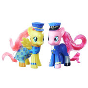 Коллекционный набор пони 'Fluttershy Admiral Fairy Flight and Pinkie Pie General Flash', из специальной серии Wonderbolts, My Little Pony, Hasbro [B7707]