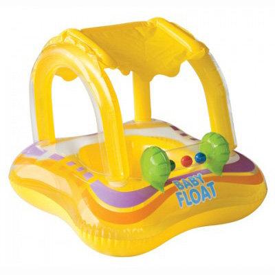 Круг-плот надувной для малышей 'Детская флотилия', с ...